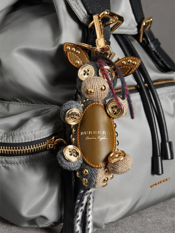 Mabel The Donkey Wool Charm in Sand Multicolour | Burberry - cell image 2