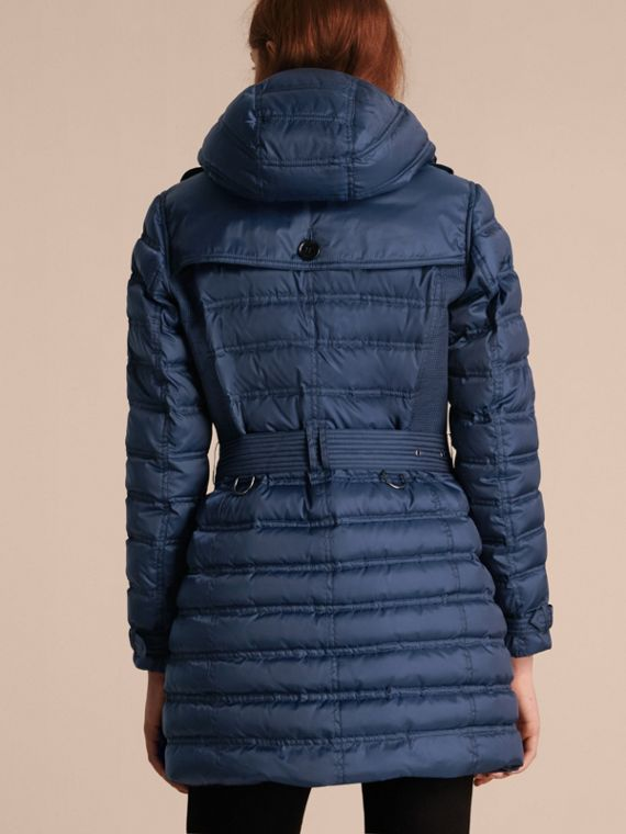 Down-filled Puffer Coat in Bright Navy - cell image 2