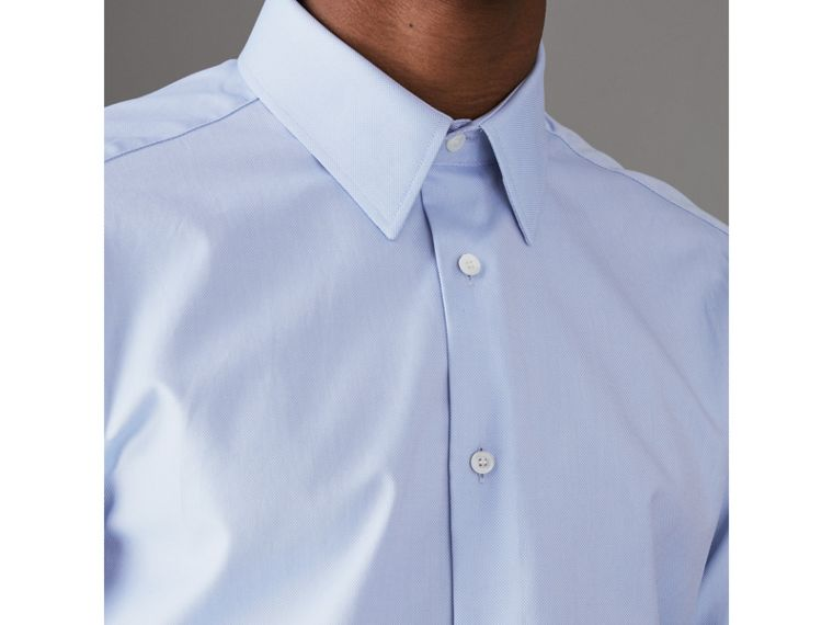 Modern Fit Cotton Shirt in Mid Blue - Men | Burberry - cell image 1