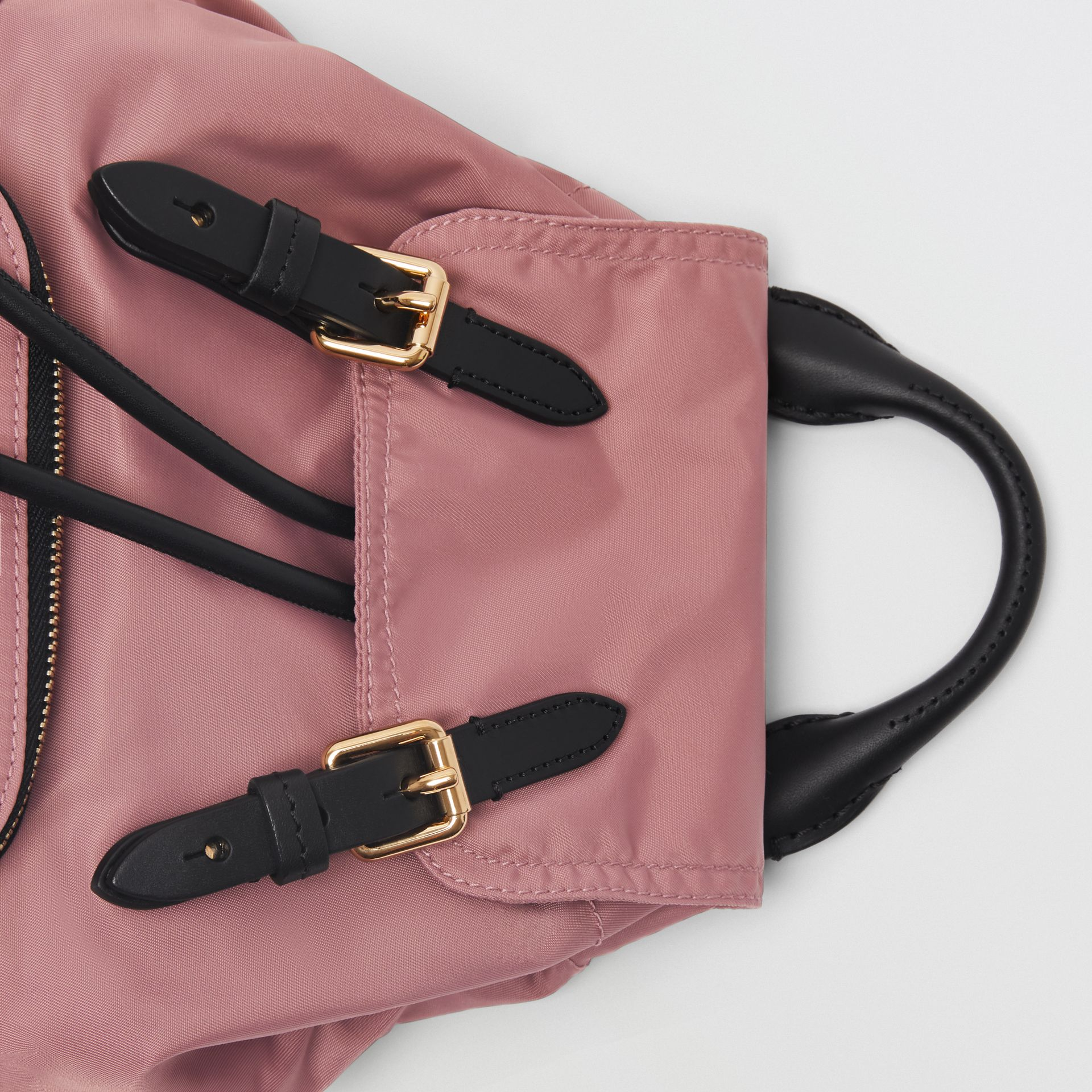 The Small Crossbody Rucksack in Nylon in Mauve Pink - Women | Burberry - gallery image 1