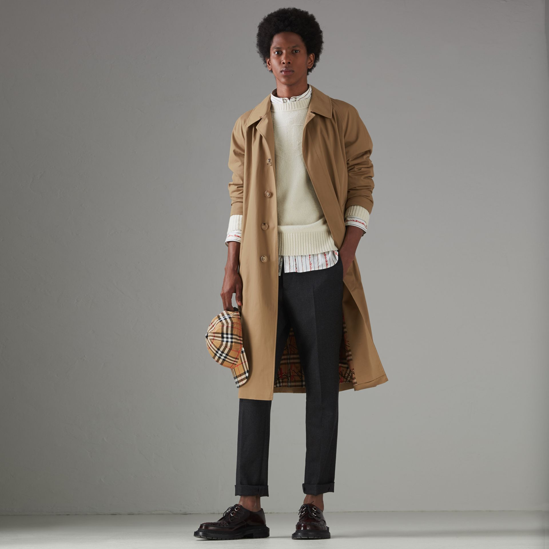 Cotton Gabardine Car Coat in Camel - Men | Burberry - gallery image 0