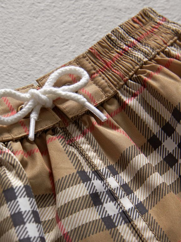 Check Swim Shorts in Camel - Children | Burberry - cell image 1