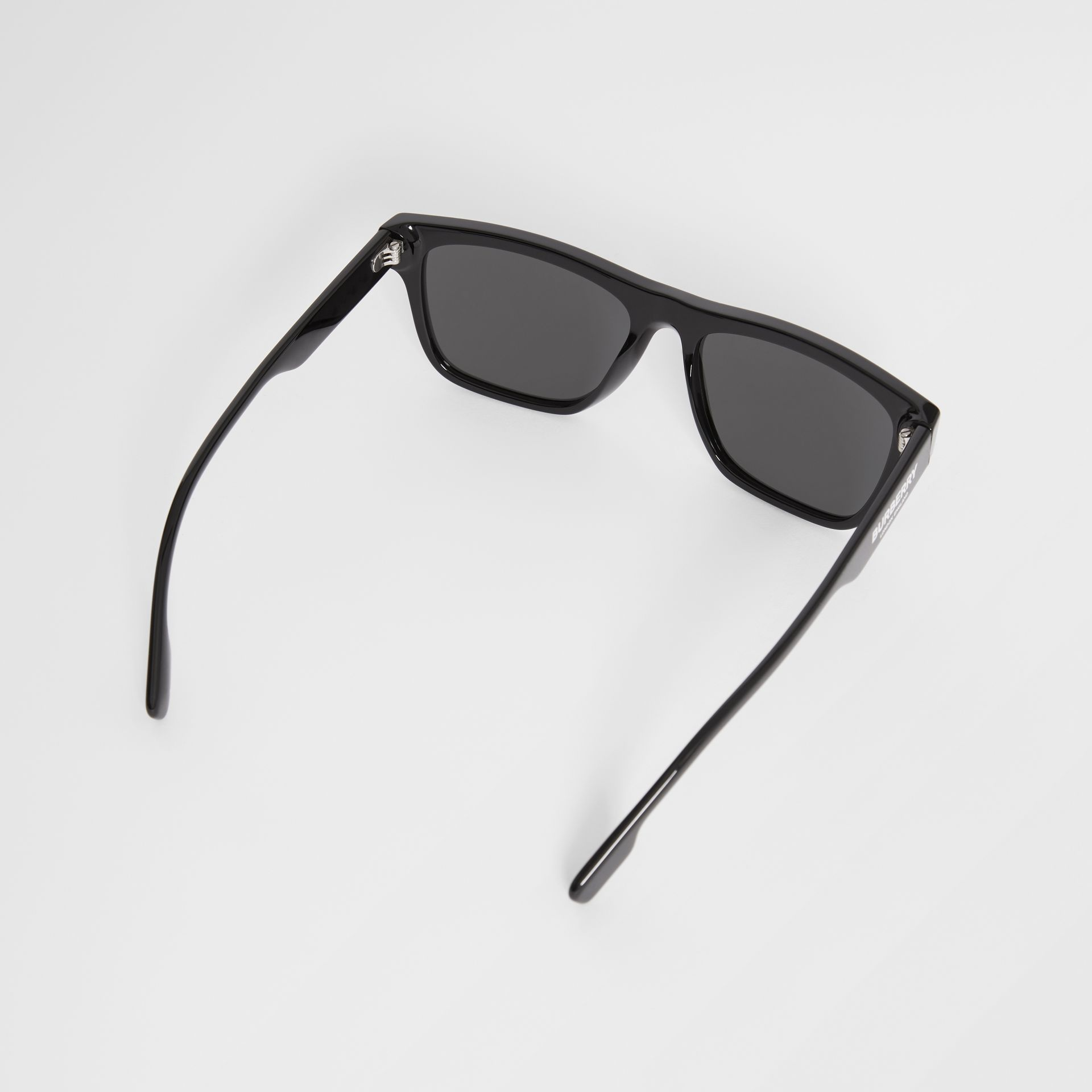 Square Frame Sunglasses in Black - Men | Burberry Canada - gallery image 4