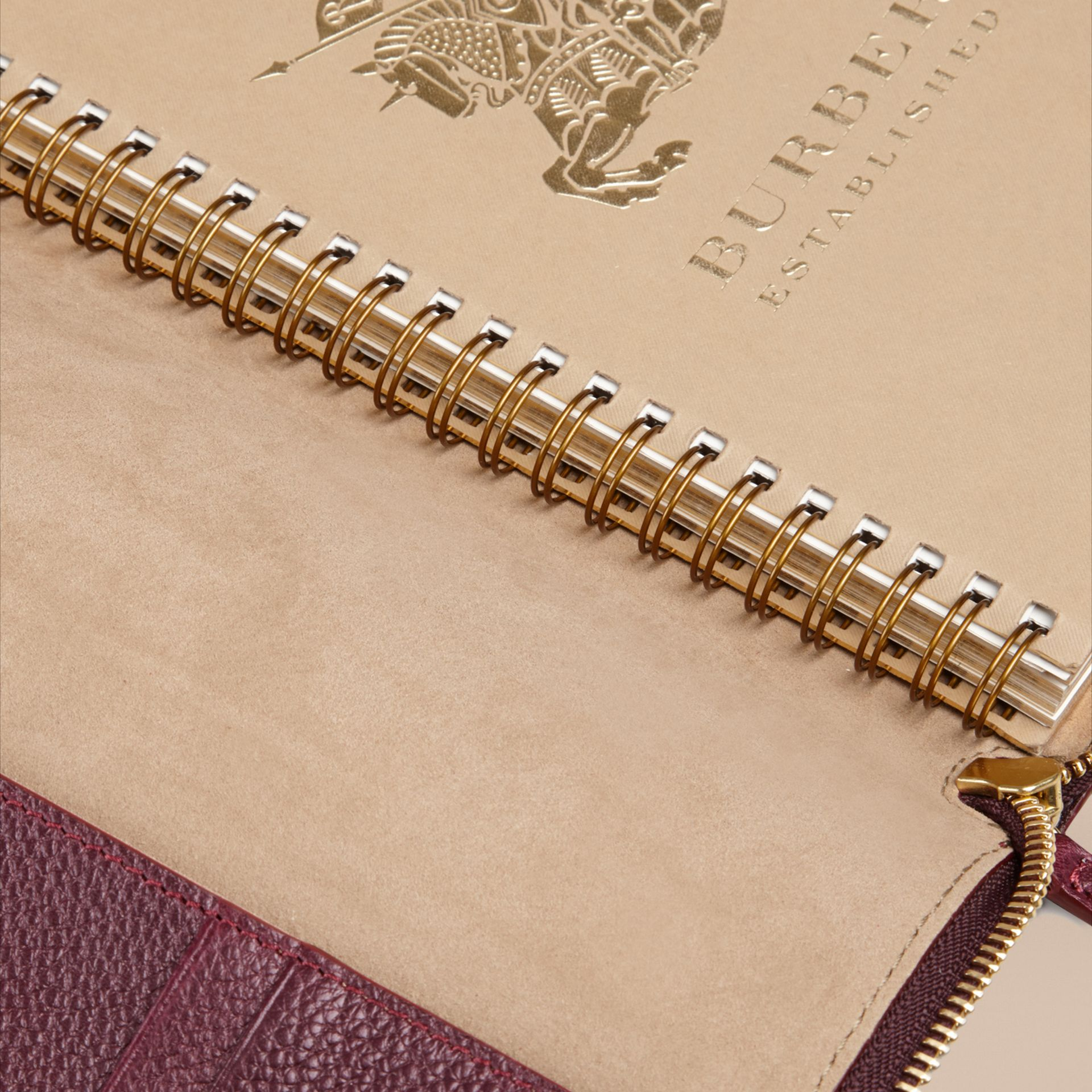 Ziparound Grainy Leather 18 Month 2016/17 A5 Diary in Dark Amethyst | Burberry - gallery image 4