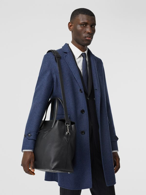 Grainy Leather Holdall in Black - Men | Burberry Canada - cell image 2