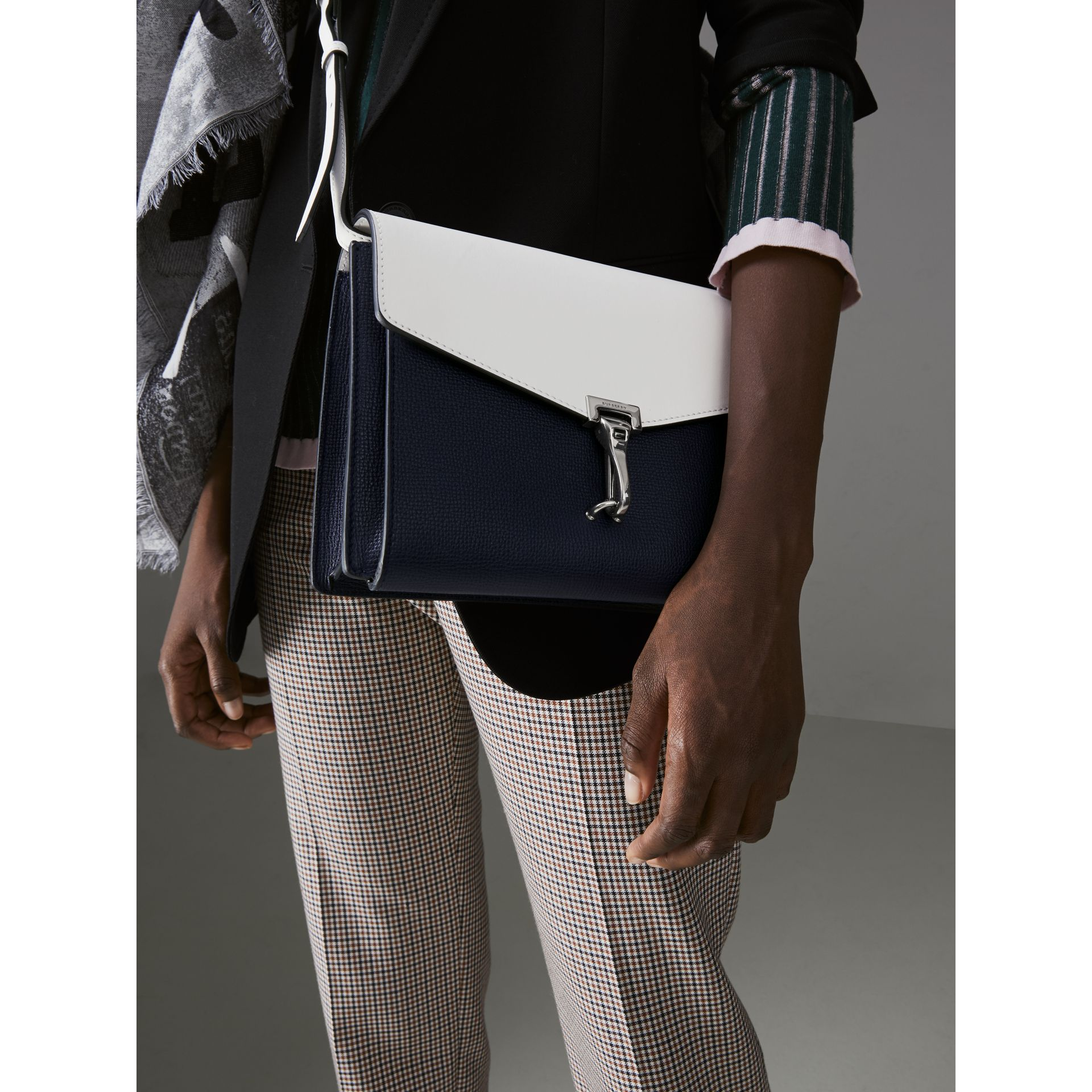Two-tone Leather Crossbody Bag in Regency Blue/chalk White - Women | Burberry United Kingdom - gallery image 3