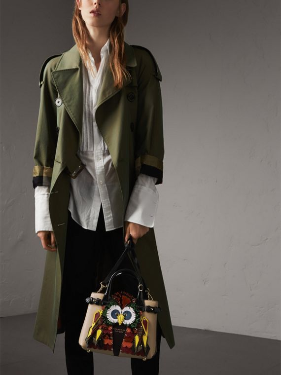The Small Banner in Leather with Beasts Motif - Women | Burberry - cell image 3