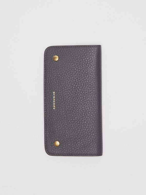 Leather Phone Wallet in Charcoal Grey - Women | Burberry - cell image 3