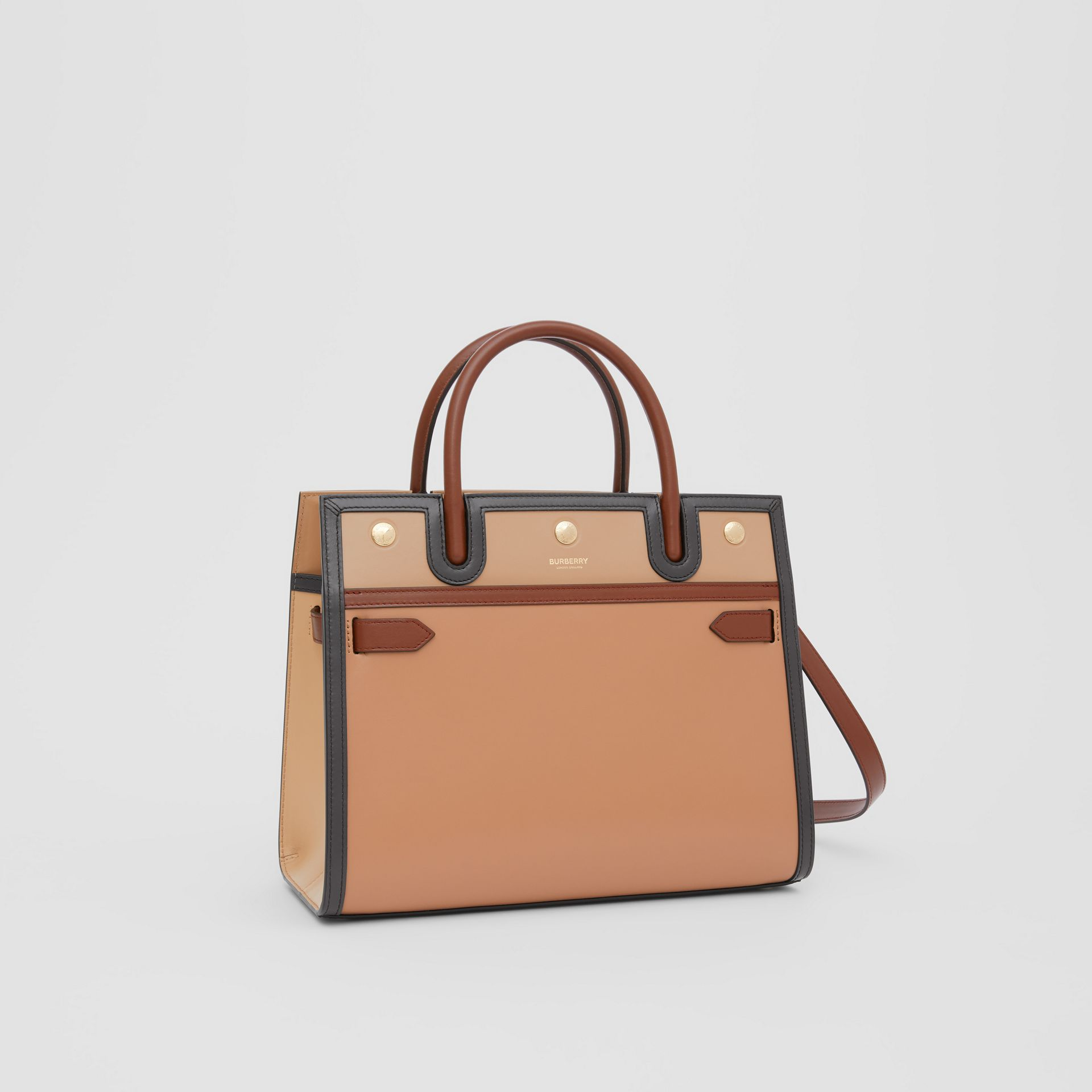 Small Leather Two-handle Title Bag in Soft Fawn - Women | Burberry - gallery image 6