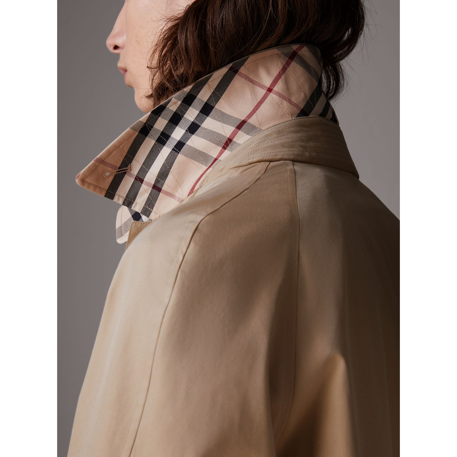 Gosha x Burberry Reconstructed Car Coat in Honey | Burberry Australia - gallery image 5