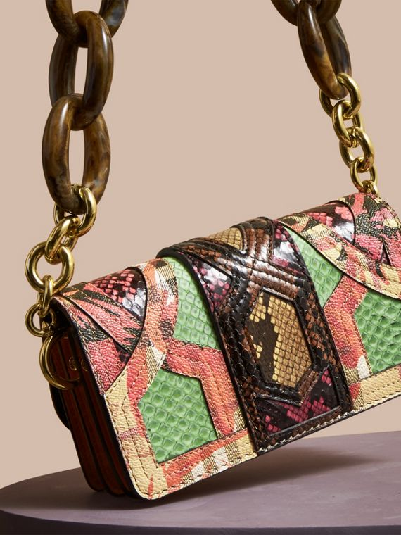 Pale green The Small Buckle Bag in Snakeskin and Floral Print - cell image 3