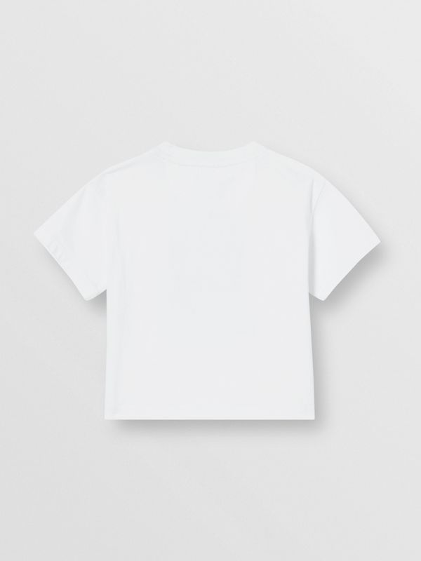 Vintage Polaroid Print Cotton T-shirt in White - Children | Burberry - cell image 3