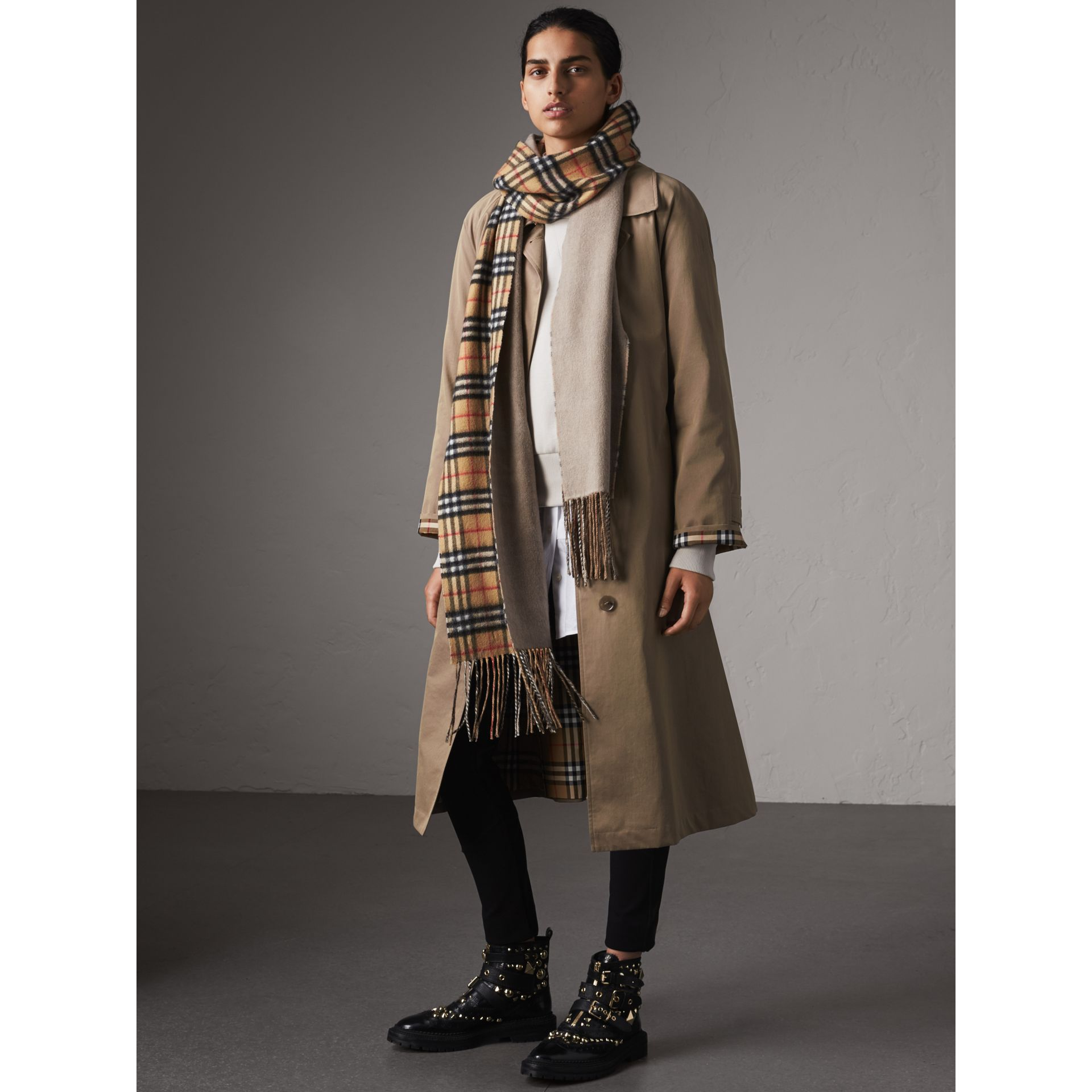 The Brighton – Extra-long Car Coat in Taupe Brown - Women | Burberry Australia - gallery image 1