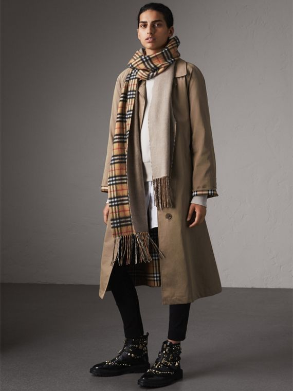 The Brighton – Longline Car Coat in Taupe Brown - Women | Burberry