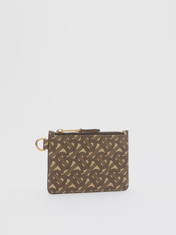 Monogram Print E-canvas Zip Coin Case in Bridle Brown - Men | Burberry - cell image 3