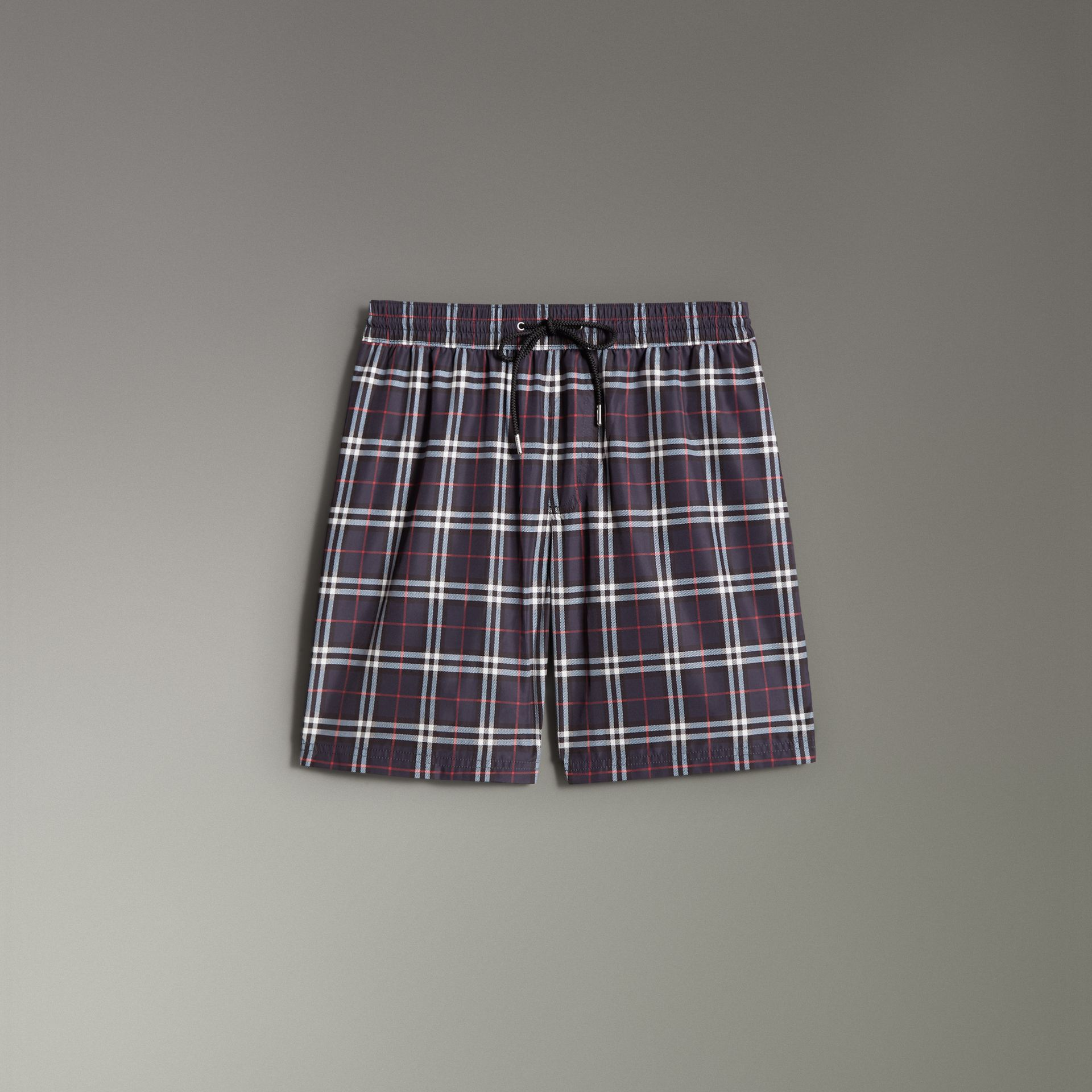 Vintage Check Drawcord Swim Shorts in Navy - Men | Burberry - gallery image 0