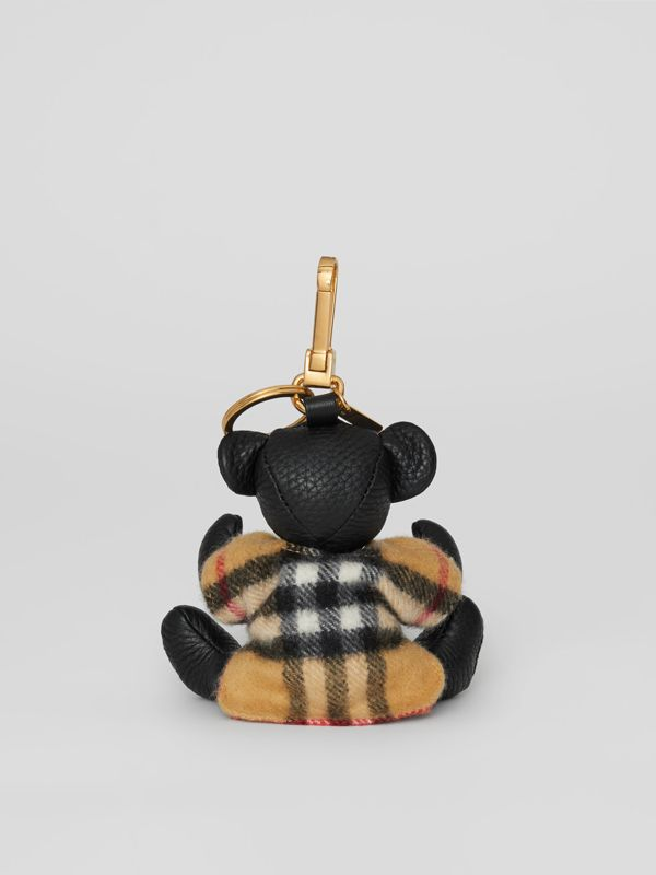 Thomas Bear Charm in Vintage Check Poncho in Black | Burberry - cell image 3