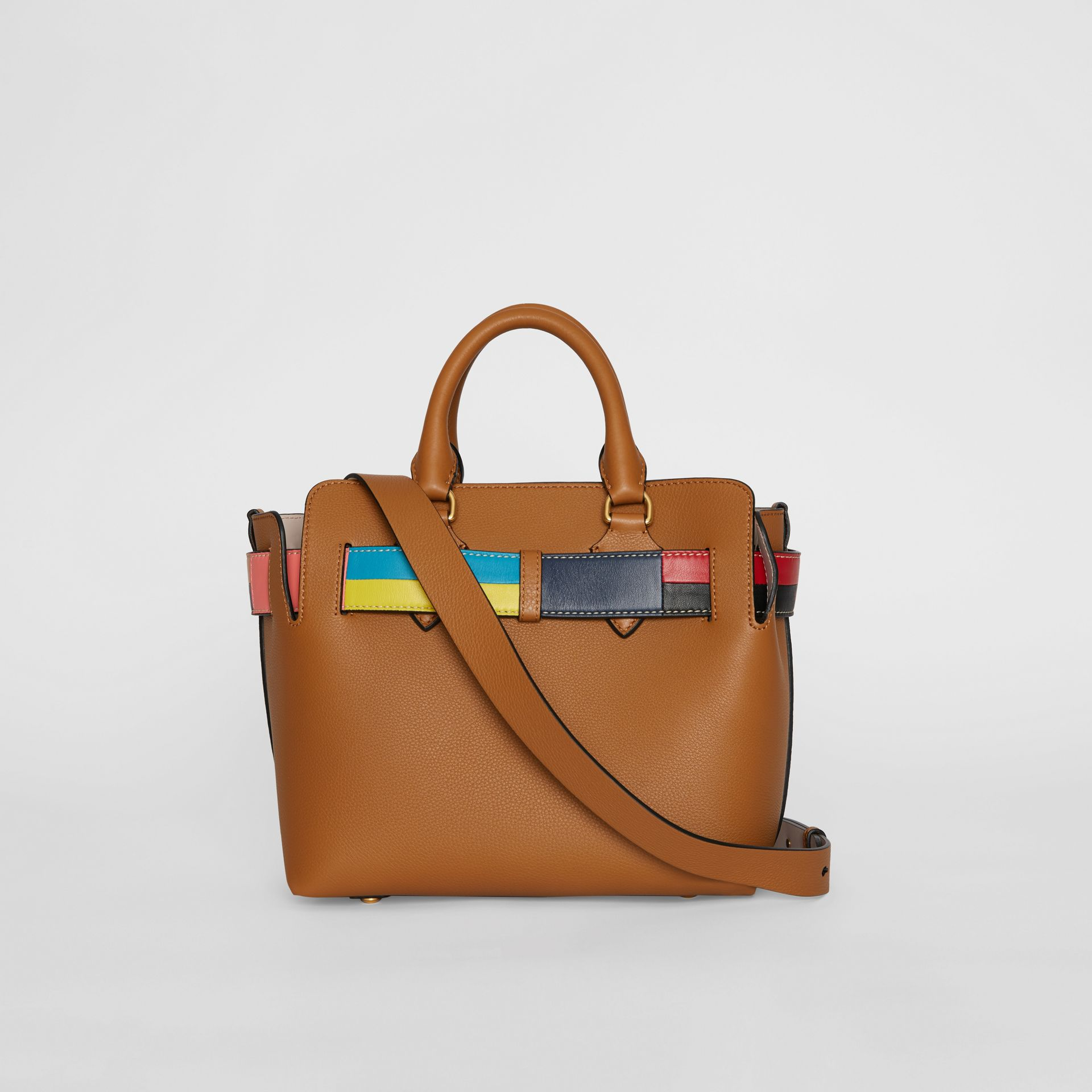 The Small Leather Colour Block Detail Belt Bag in Cognac - Women | Burberry - gallery image 7