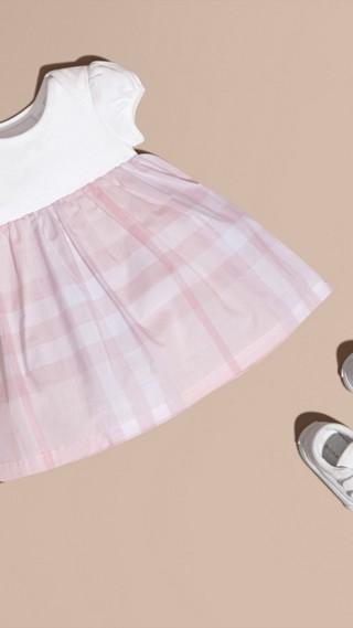 Check Detail Cotton Dress
