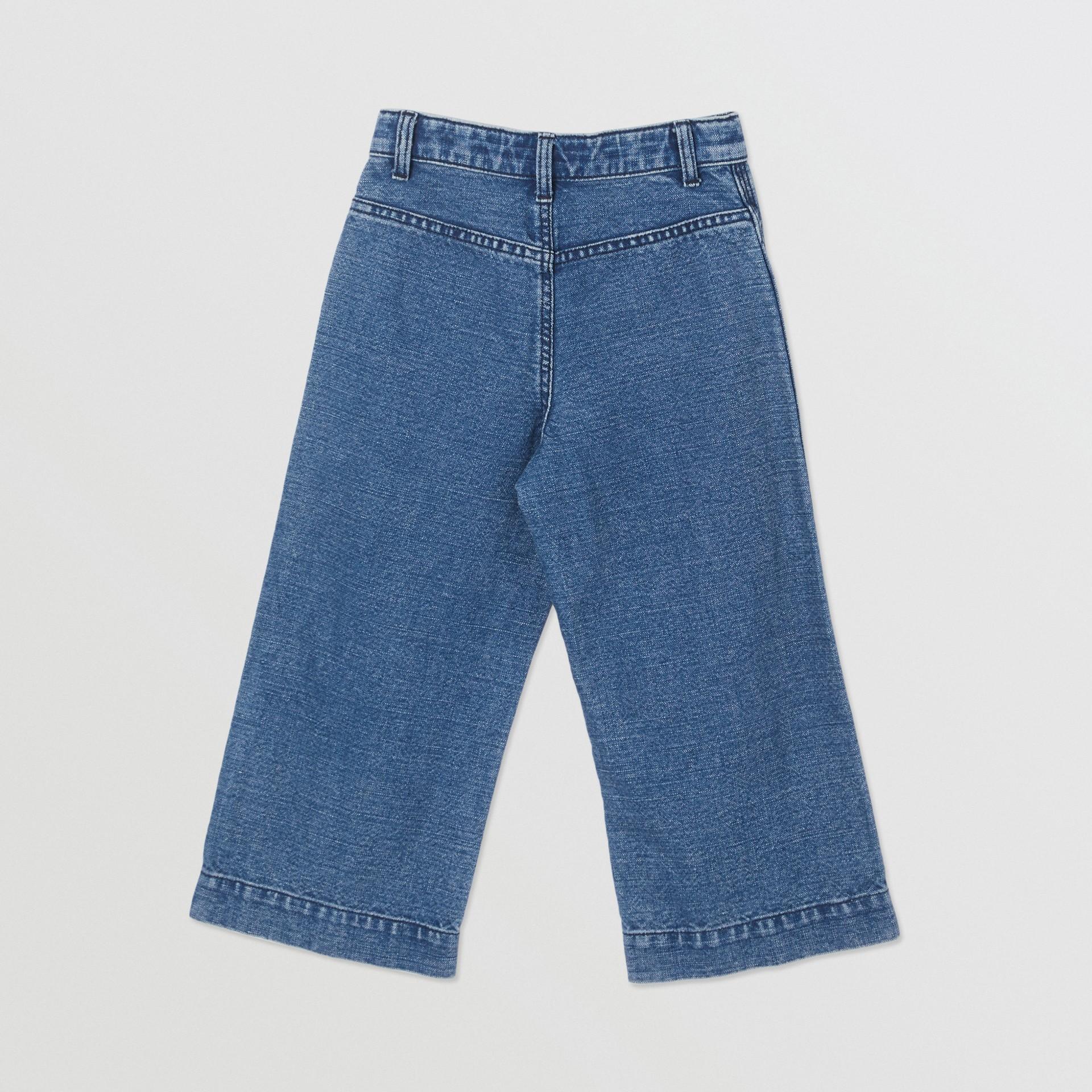 Logo Print Japanese Denim Jeans in Indigo - Girl   Burberry - gallery image 3