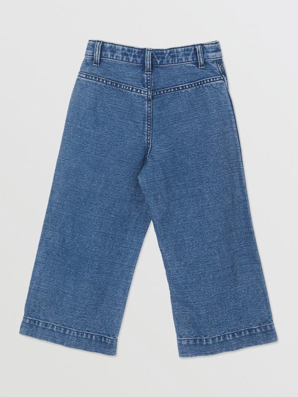 Logo Print Japanese Denim Jeans in Indigo - Girl   Burberry - cell image 3