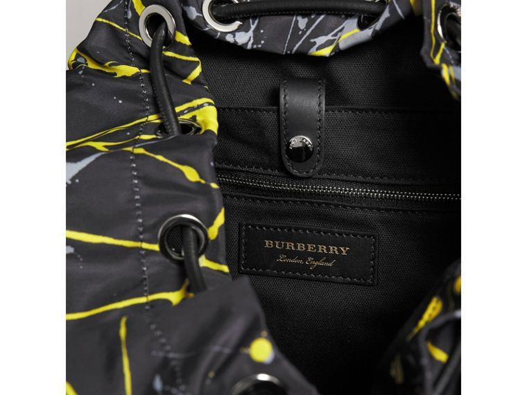 The Large Rucksack in Splash Print in Black/yellow - Men | Burberry Canada - cell image 4