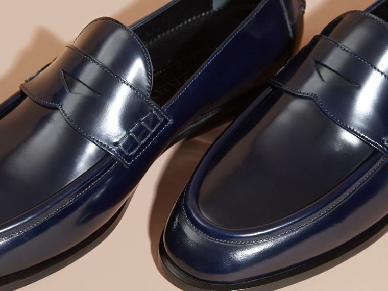 Ink blue Polished Leather Loafers Ink Blue - cell image 1