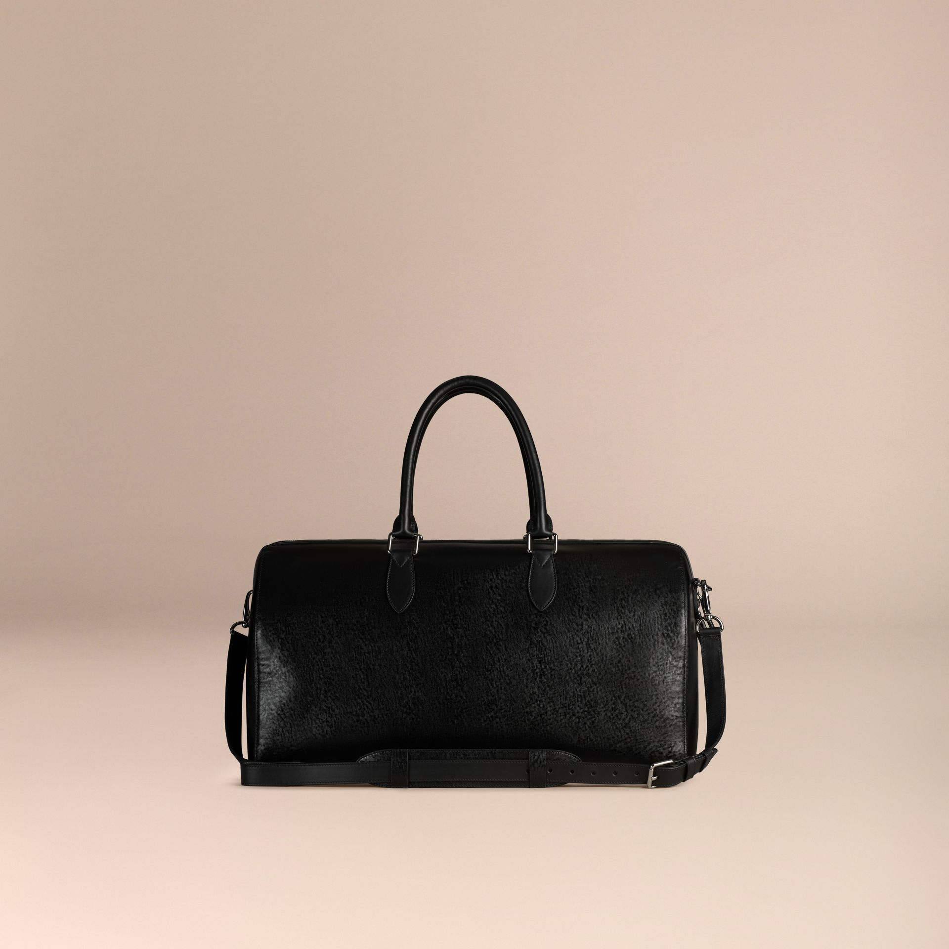 Black London Leather Holdall Black - gallery image 4