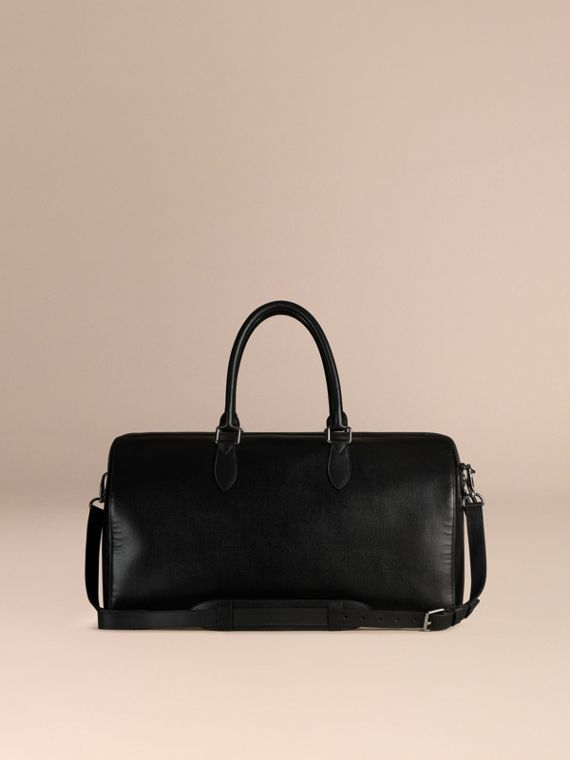 Black London Leather Holdall Black - cell image 3
