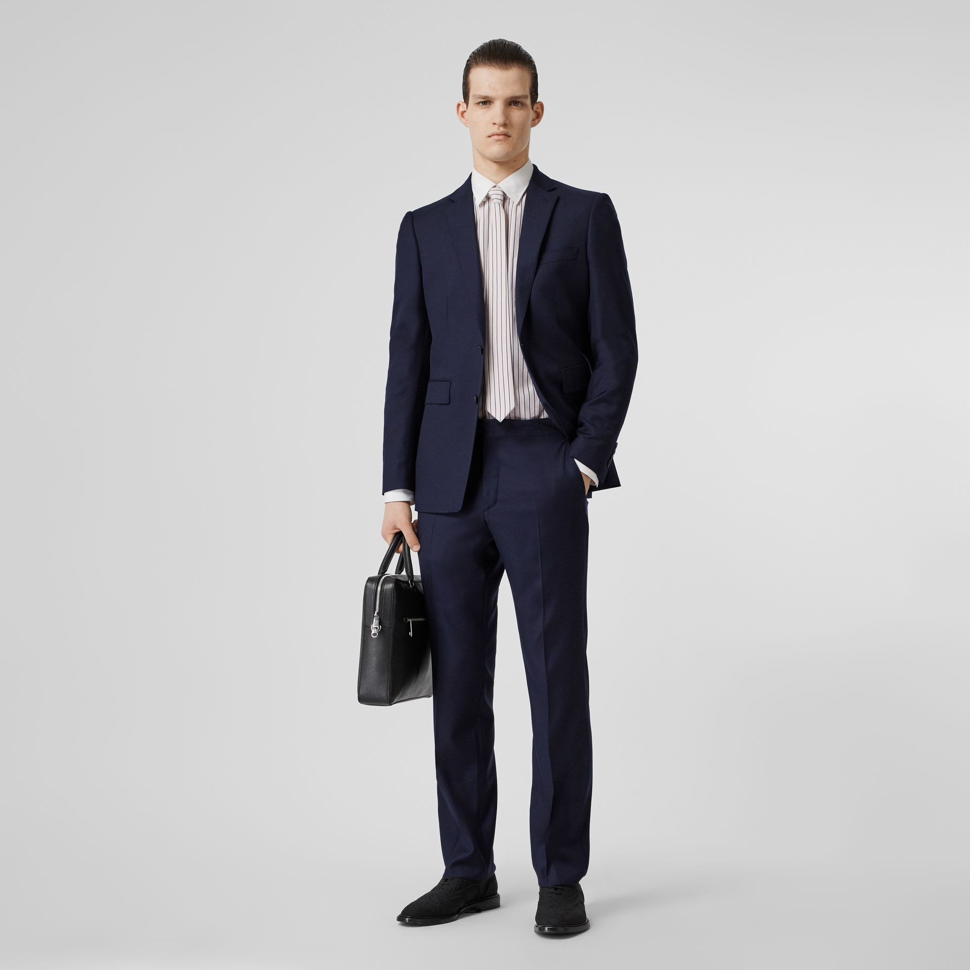 Classic Fit Wool Suit in Navy - Men | Burberry Singapore - gallery image 0
