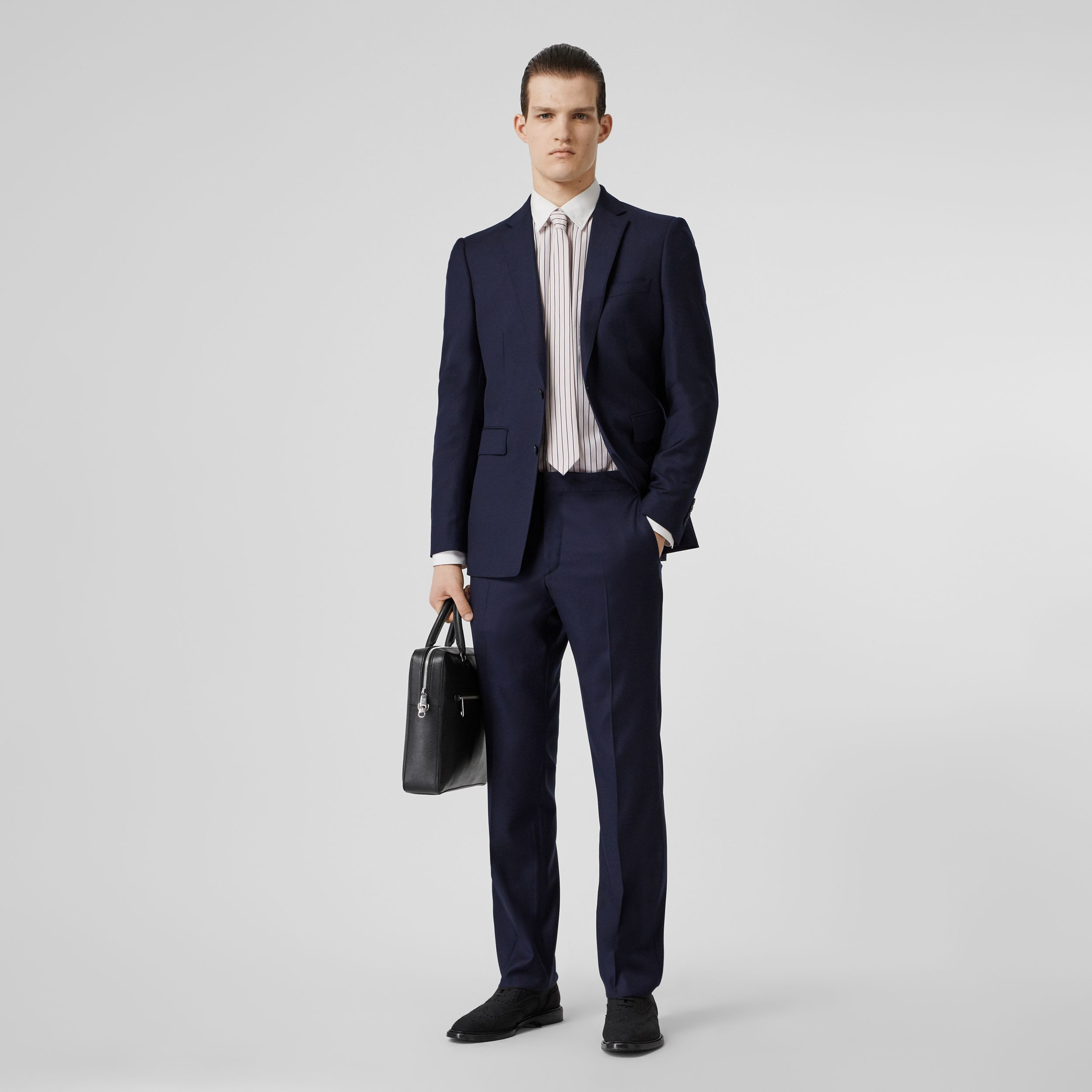 Classic Fit Wool Suit in Navy - Men | Burberry - 1