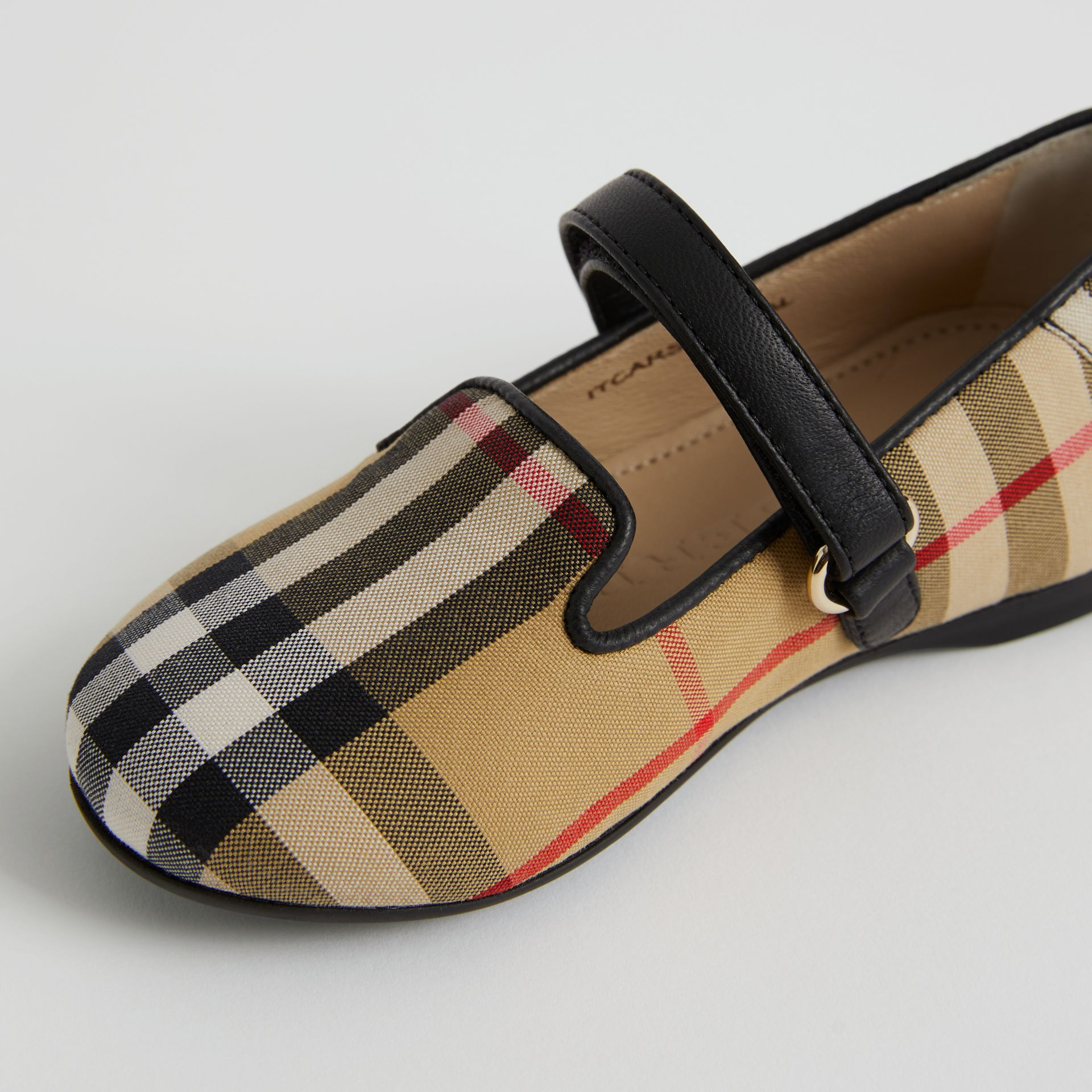 D-ring Strap Vintage Check Slippers in Antique Yellow - Children | Burberry United Kingdom - gallery image 1