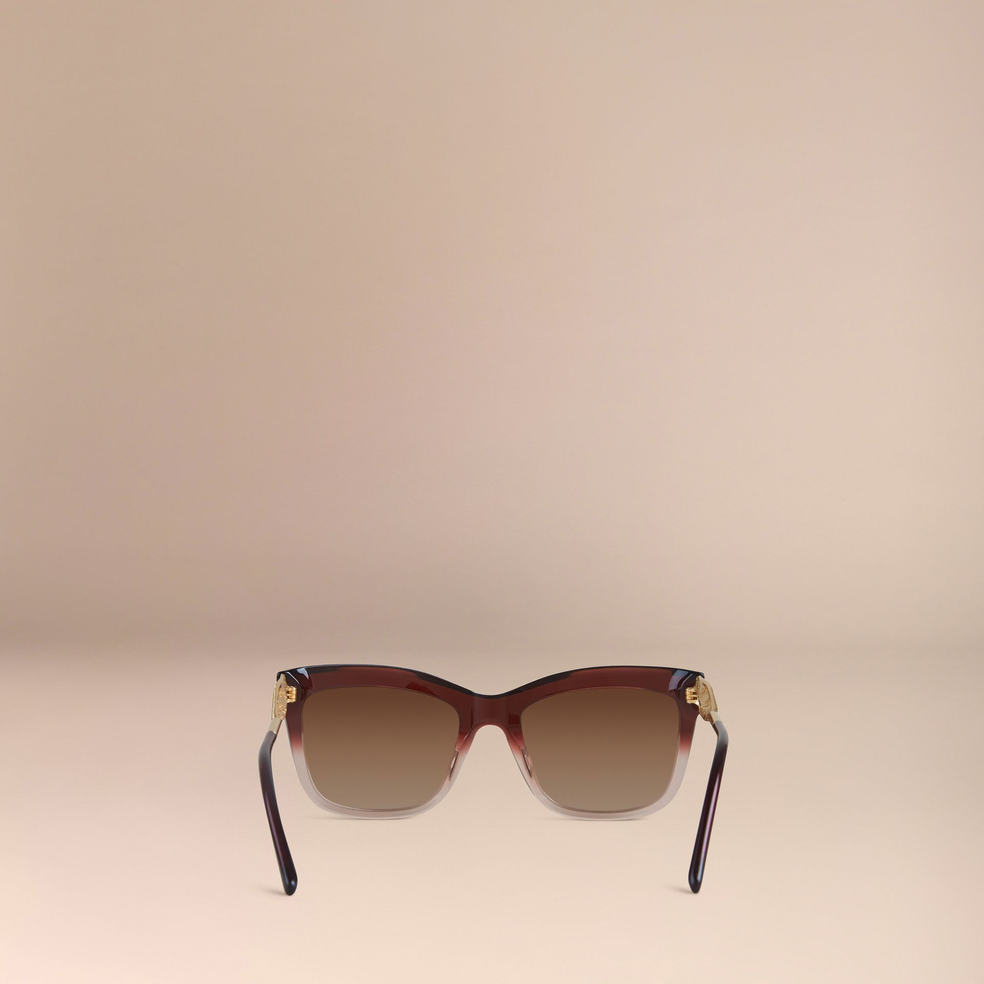 Dark military red Gabardine Lace Collection Square Frame Sunglasses Dark Military Red - gallery image 3