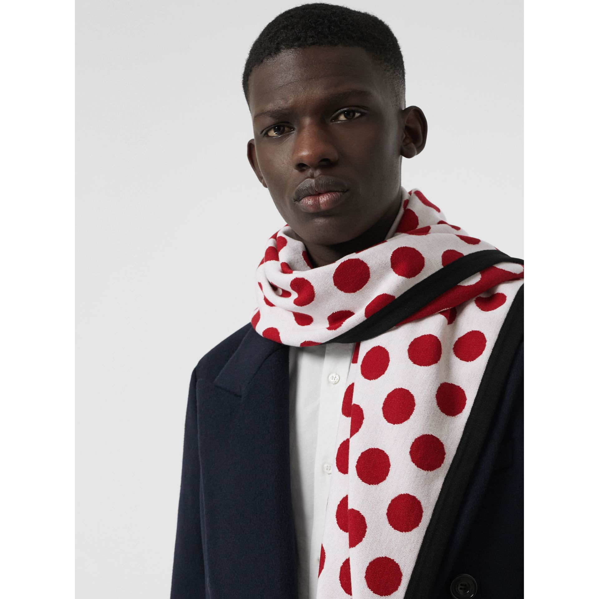 The Burberry Bandana in Spot Wool Blend in Multicolour | Burberry - gallery image 6