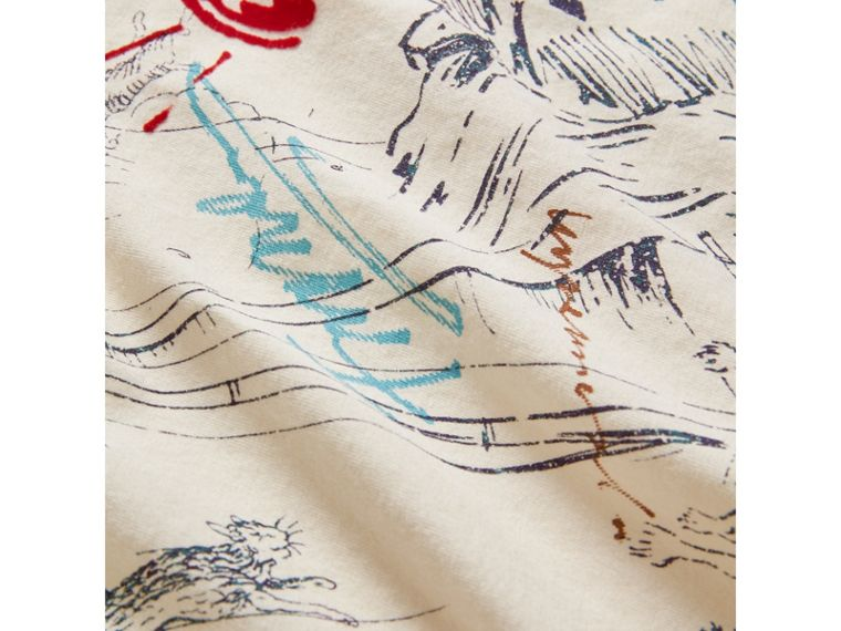 Adventure Motif Cotton T-shirt in White - Boy | Burberry United States - cell image 1
