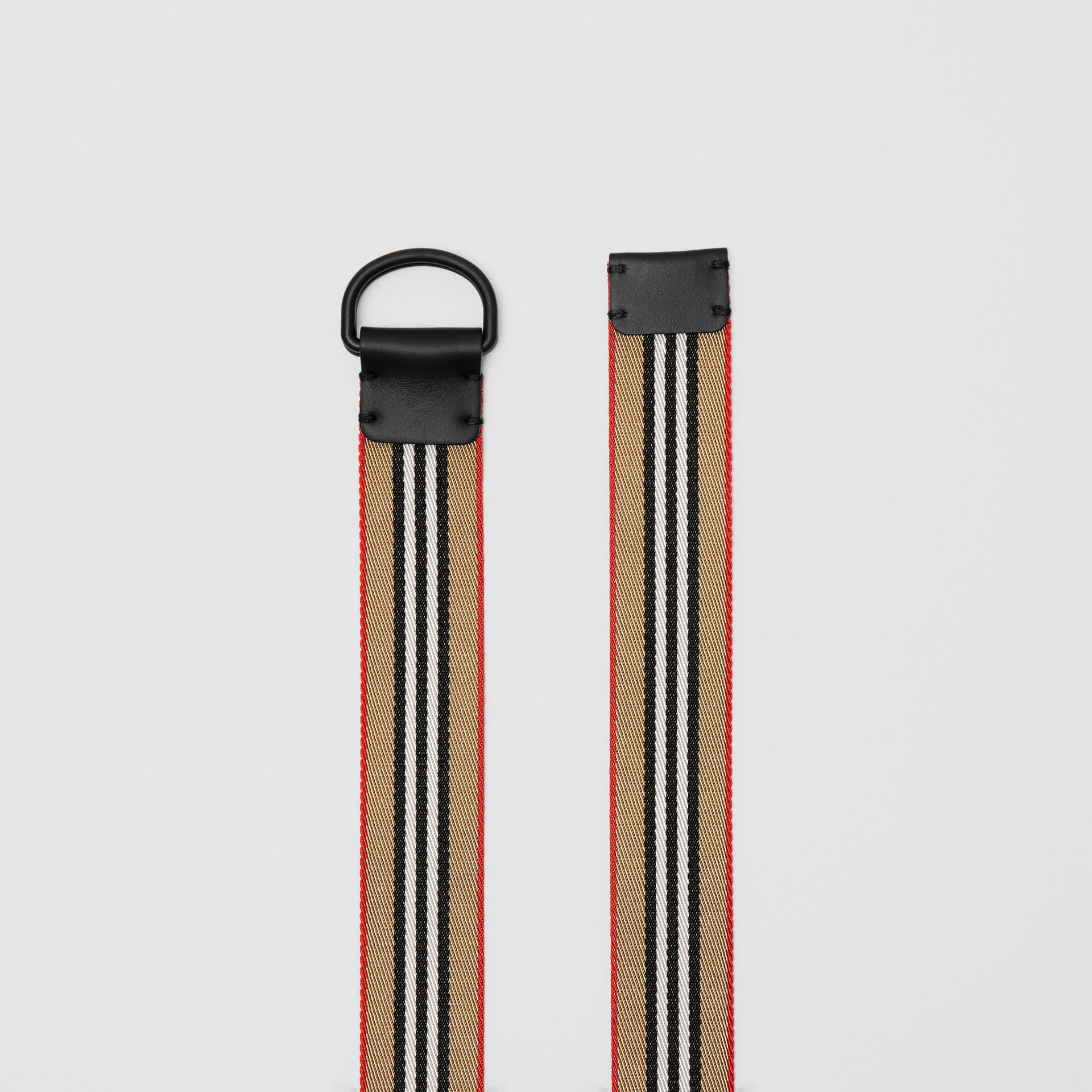 Icon Stripe Double D-ring Belt in Archive Beige - Men | Burberry - gallery image 5