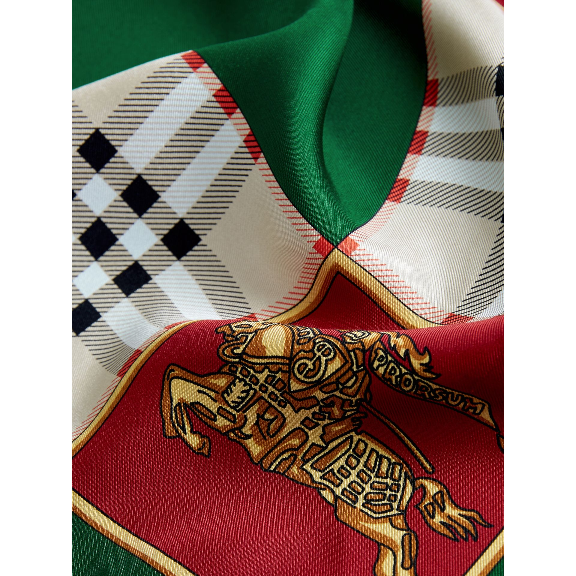 Archive Scarf Print Silk Scarf in Multicolour - Women | Burberry United Kingdom - gallery image 1