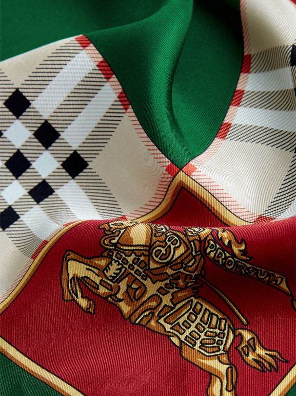Archive Scarf Print Silk Oversized Scarf in Multicolour - Women | Burberry - cell image 1