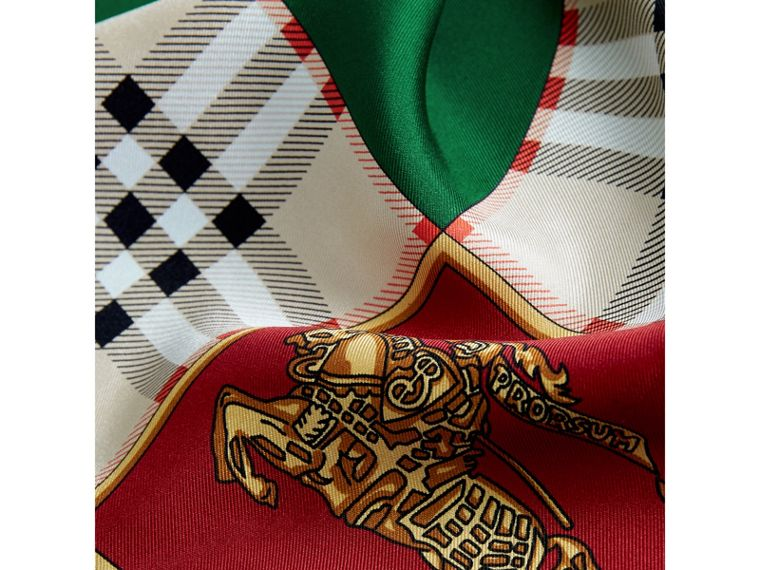 Archive Scarf Print Silk Scarf in Multicolour - Women | Burberry United Kingdom - cell image 1