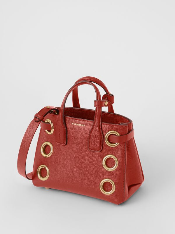 The Baby Banner in Grommeted Leather in Crimson - Women | Burberry - cell image 2