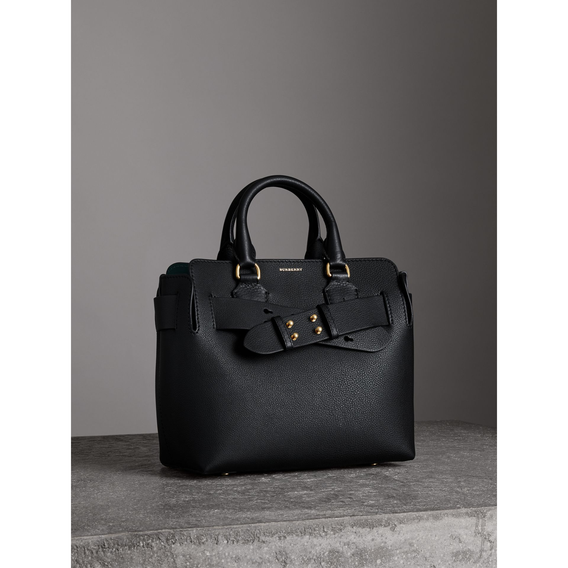 The Small Leather Belt Bag in Black - Women | Burberry - gallery image 6