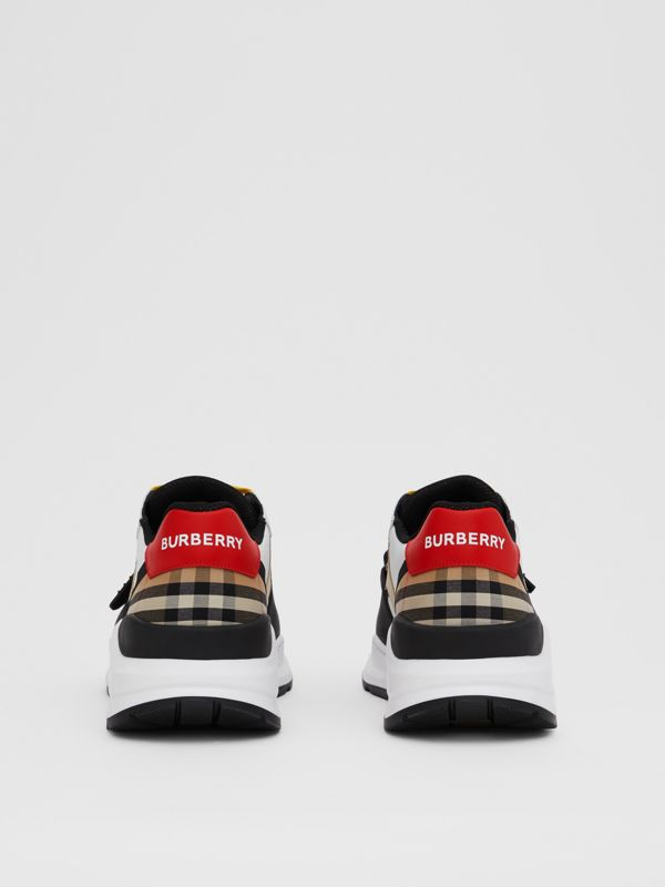 Nylon, Suede and Vintage Check Sneakers in Archive Beige - Men | Burberry - cell image 3