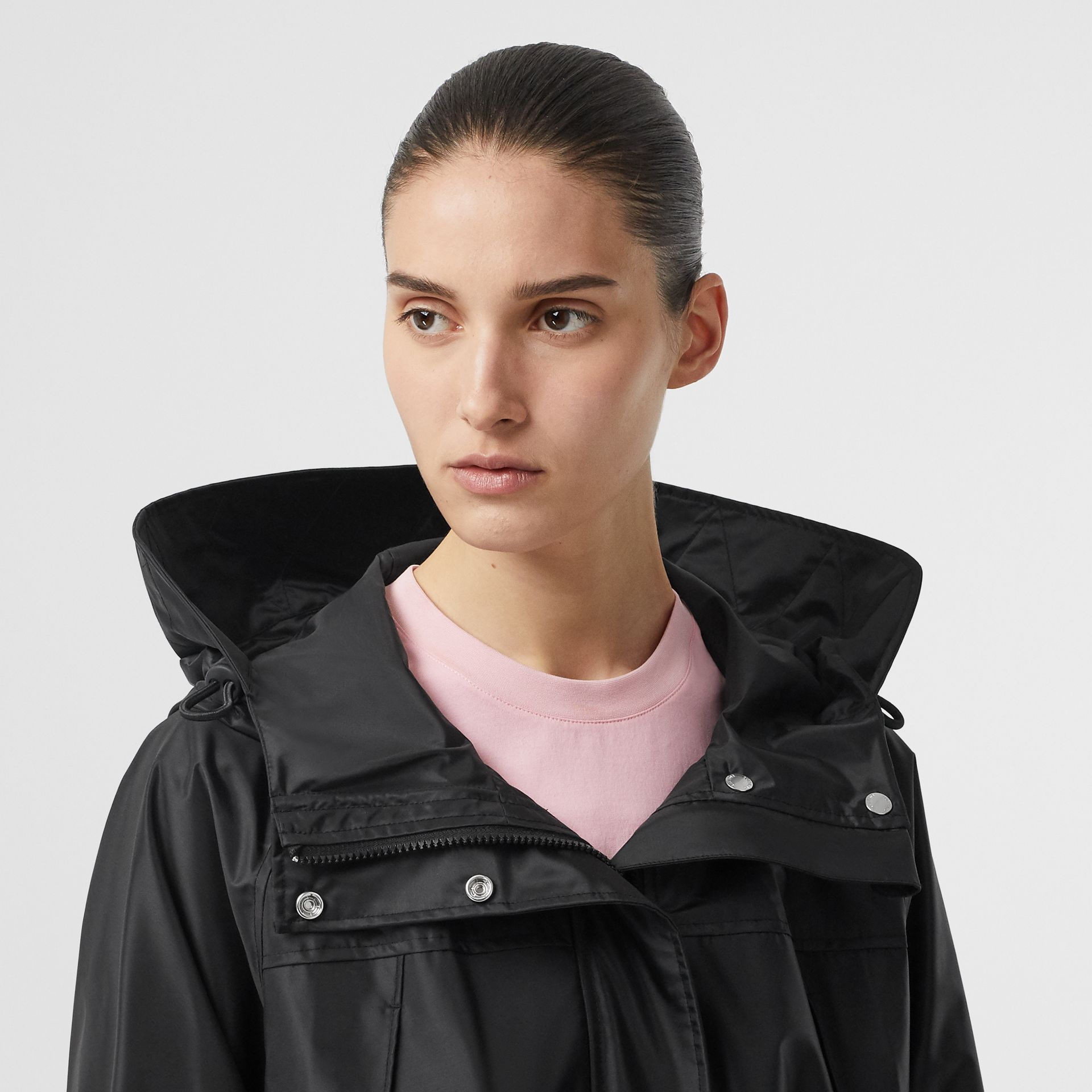 Coated Nylon Hooded Parka with Detachable Gilet in Black - Women | Burberry United States - gallery image 6