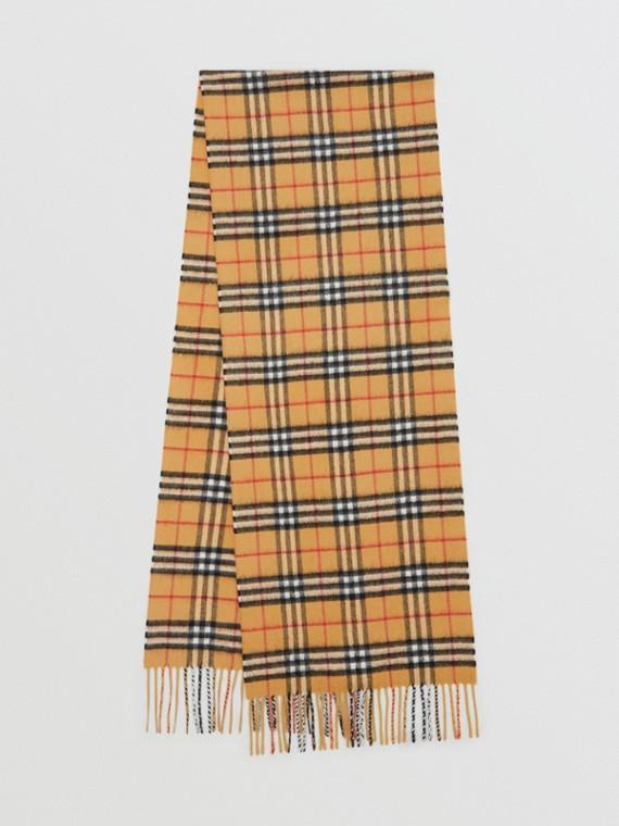 Классический шарф из кашемира в клетку Vintage Check (Старинный Желтый)