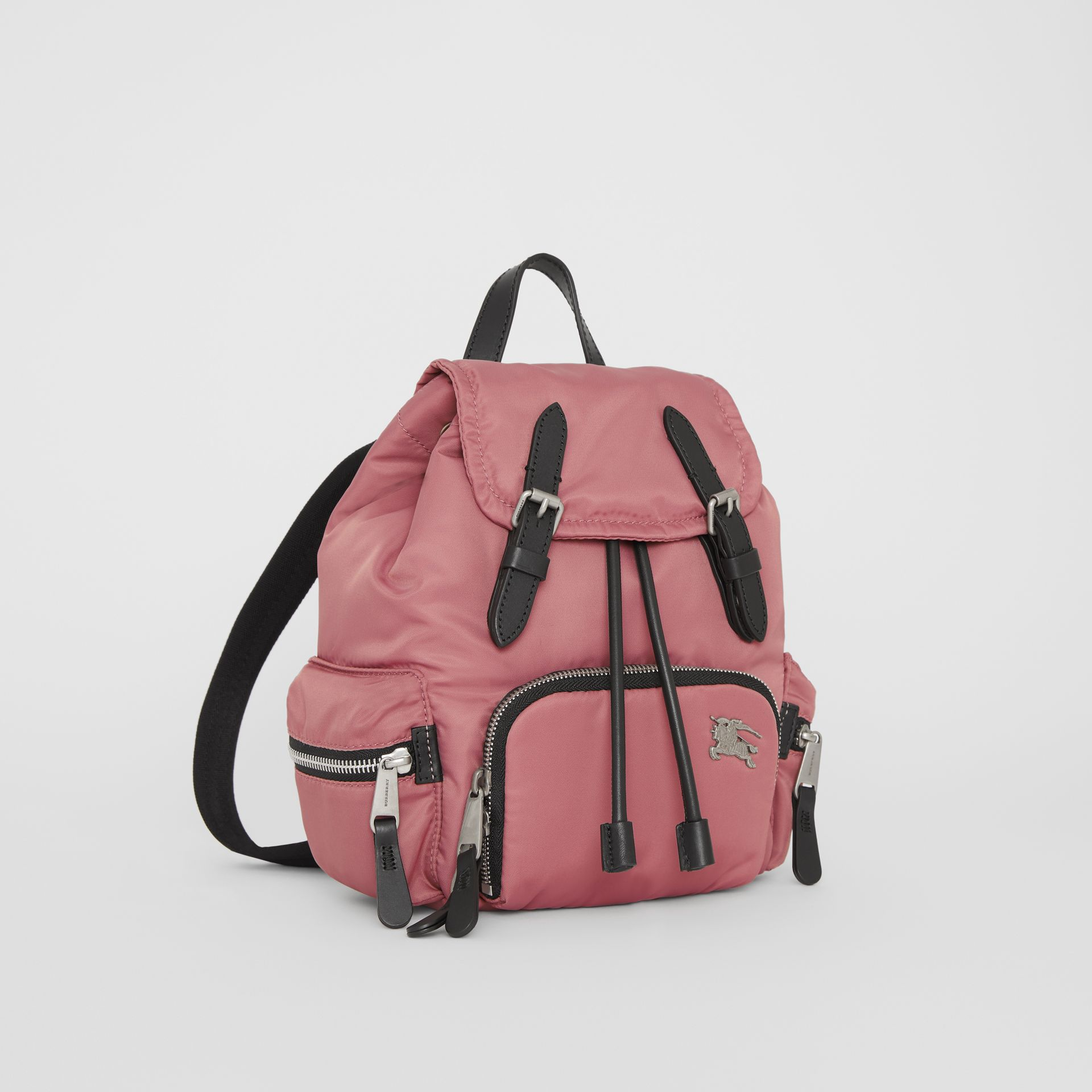 The Small Crossbody Rucksack in Puffer Nylon in Mauve Pink - Women | Burberry - gallery image 7