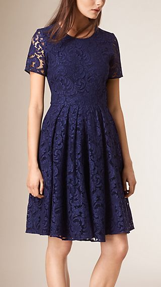 French Lace A-line Dress