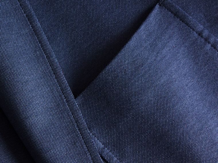 Mineral blue Slim Fit Tailored Cotton Jacket Mineral Blue - cell image 1