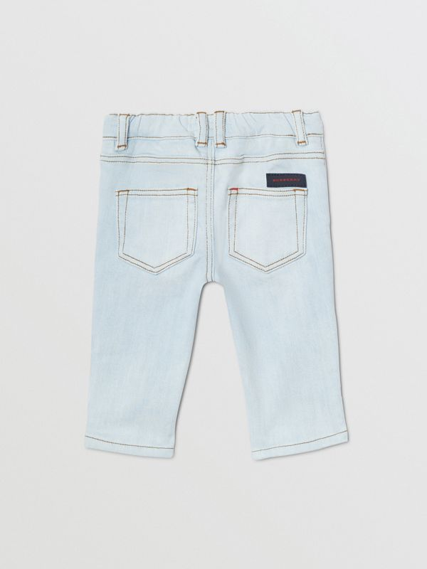 Relaxed Fit Stretch Denim Jeans in Light Blue - Children | Burberry United Kingdom - cell image 3