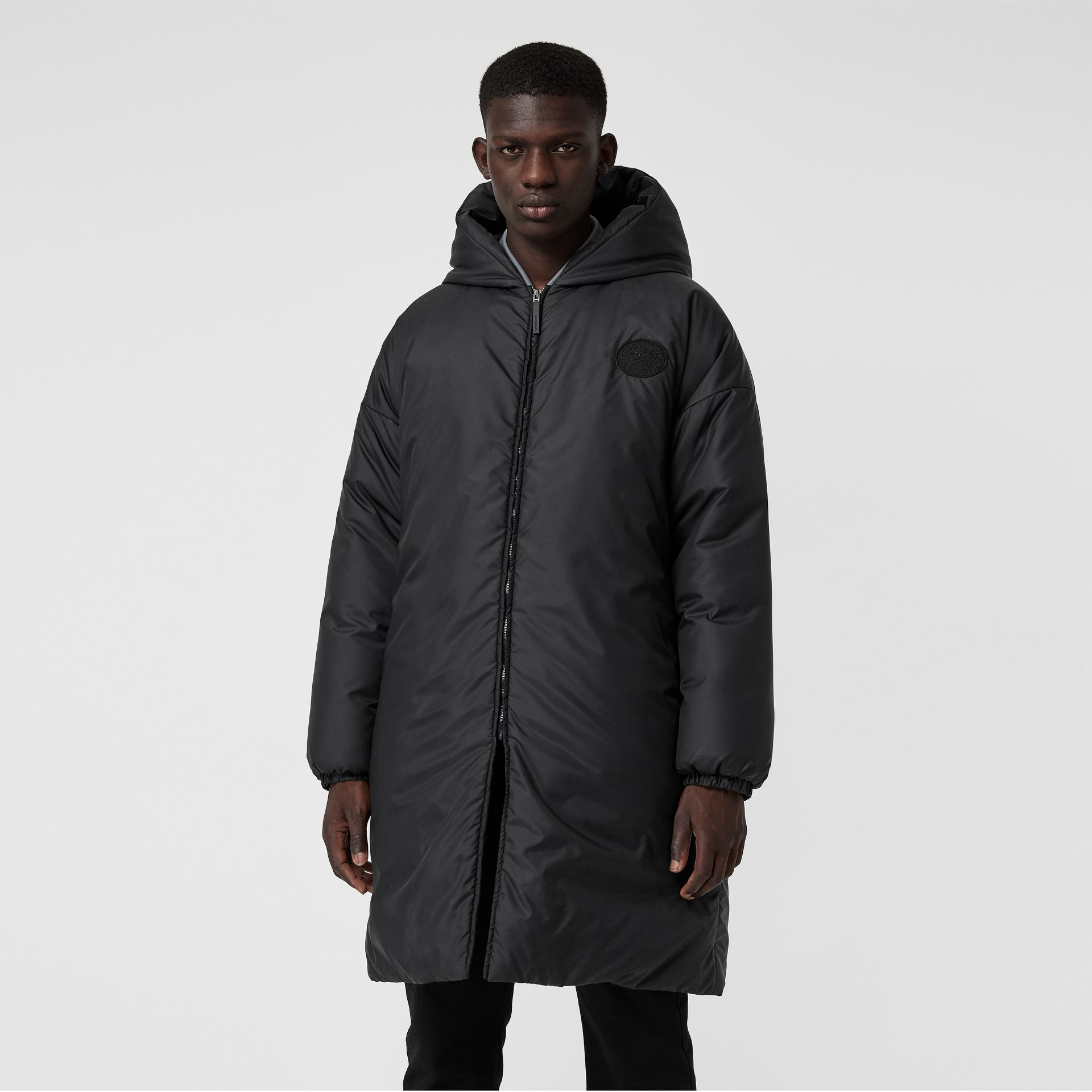 Down-filled Oversized Hooded Coat in Black - Men | Burberry United Kingdom - gallery image 5