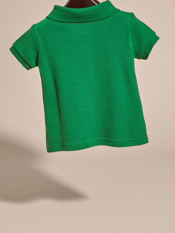 Bright pigment green Cotton Piqué Polo Shirt Bright Pigment Green - cell image 3